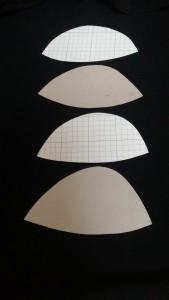 マスクのお皿の型紙